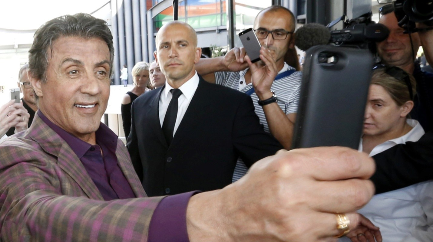 Sylvester Stallone Art Exhibition in Nice - . Nice (France), 16/05/2015.- US actor Sylvester Stallone makes a selfie as he attends the opening of the his art exhibition entitled 'Real Love' at the Contemporary Gallery of the Nice Museum in Nice, France, 16 May 2015, as part of the 68th annual Cannes Film Festival. The festival runs from 13 to 24 May. (Cine, Francia, Niza) EFE/EPA/ARNOLD JEROCKI FRANCE CANNES FILM FESTIVAL 2015